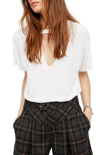 FREE PEOPLE JORDAN BURNOUT TEE. #freepeople #cloth #
