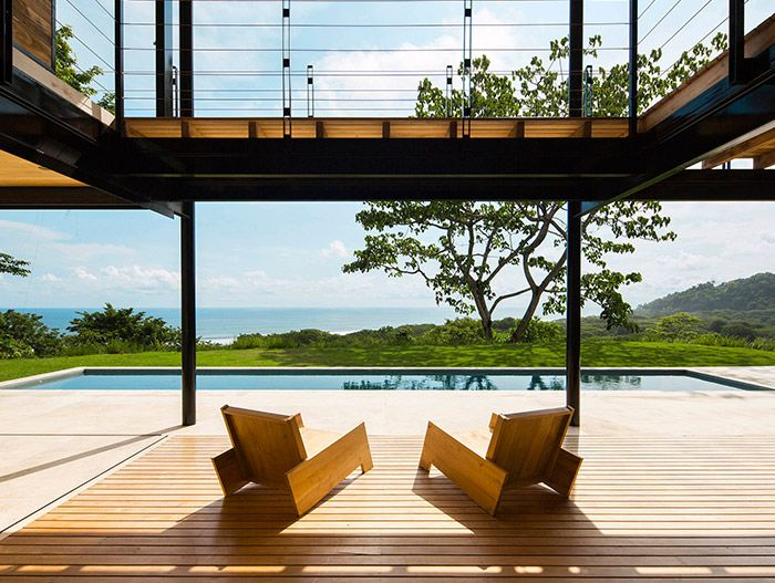 Tropical eco-friendly house in Costa Rica with stunning pool and stunning views - Ocean Eye by Benjamin Garcia Saxe