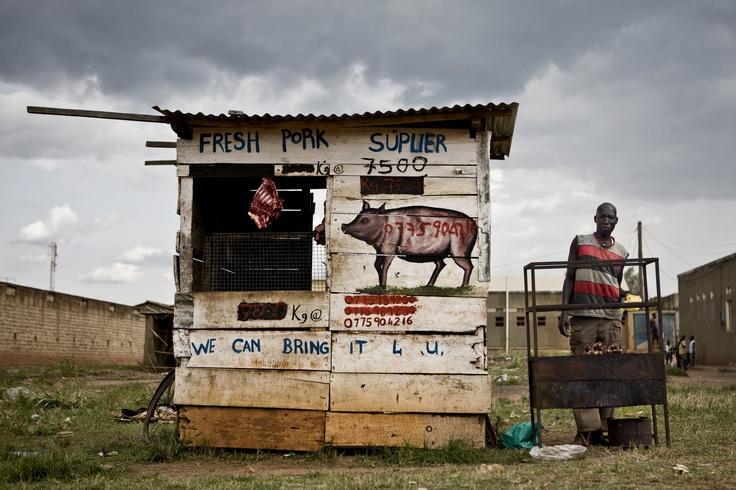 Pork supplier in Gulu. Photo: Glenna Gordon