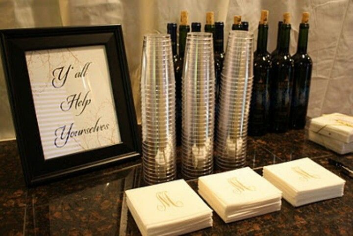 self serve wine at wedding - Google Search