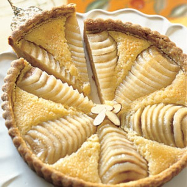 This is my friend Paule Caillat's recipe, with its  meltingly tender all-butter crust. Instructions for poaching fresh pears are included, but if you want to save time, do what Paule and other French women in a hurry do — use canned pear halves. Just drain the canned pears, dry them very well, and carry on.
