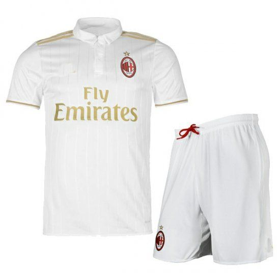 16-17 AC Milan Away White Cheap Soccer Kit (Shirt+Shorts) [G00601]