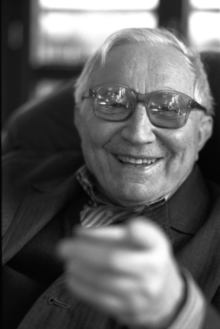 Tadeusz Różewicz, a Nobel-nominated Polish author. We're releasing his Mother Departs in 2013. Photo: Ela Lempp.