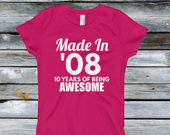Girls 10th Birthday Shirt