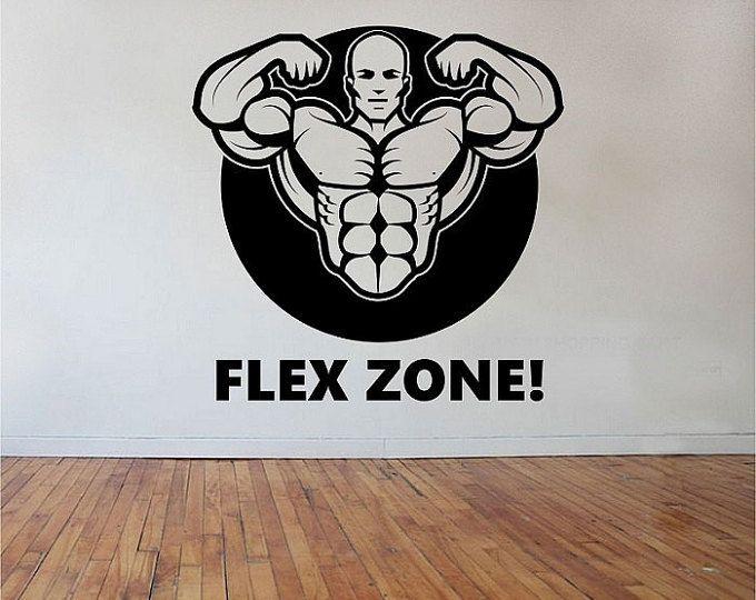 Estilo de vida deportivo etiqueta arte decoración dormitorio diseño Mural de pared calcomanía FLEX zona-fitness gimnasio trabajar en decoración para el hogar