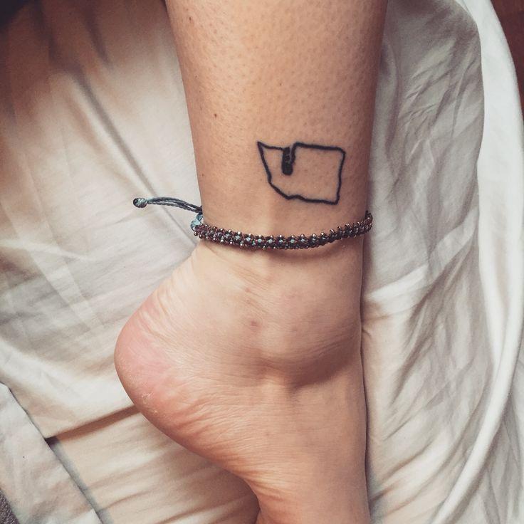 Washington State Tattoo #Little #Tattoo #Washington #State #Ankle