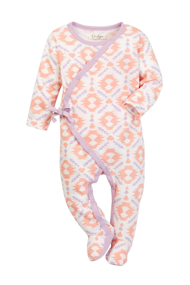 Geometric Footie (Baby Girls) by Jessica Simpson on @nordstrom_rack