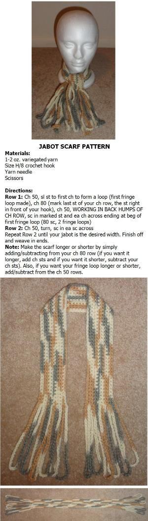 Jabot scarf crochet pattern by Ashley Newman Griner