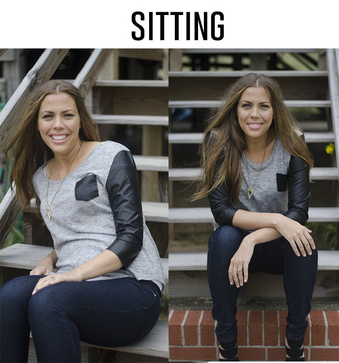 HOW TO LOOK GOOD IN SITING PHOTOS  (push your head fwd)