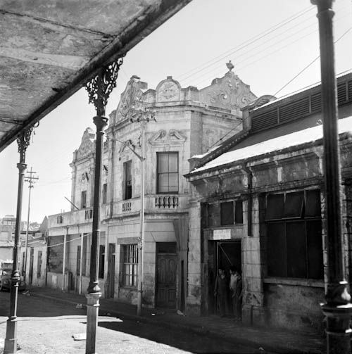 Old buildings on a quiet street in District Six, Cape Town, South Africa
