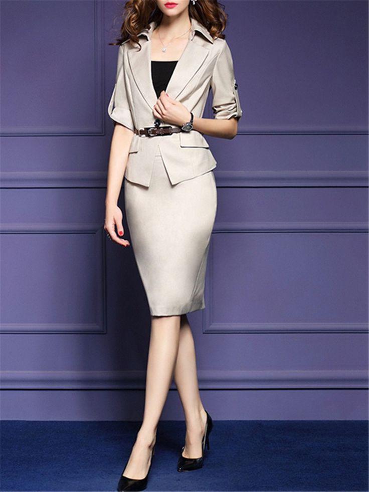 Damen OL Style Blazer & Rock 2-Teilige Anzüge : Tidebuy.com de