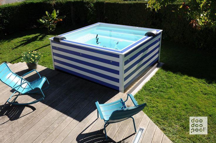 doodoopool l'Ultra Compact Piscine | Une doodoopool marinière design et élégante dans les environs de Rouen. doodoopool est le 1er meuble piscine au design personnalisable qui s'installe sans travaux !