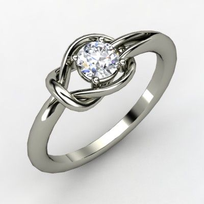 Hercules Knot Ring - The Hercules knot is the strongest of bonds. In ancient Rome, brides wore a belt tied in a Hercules knot to their weddings to signify the strength of the marriage vows to bind a couple together.