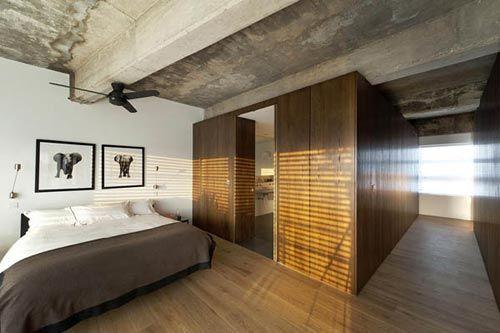 Industriële slaapkamer voormalig fabriek in Londen | Slaapkamer ideeën