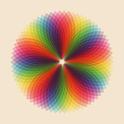 An inspiring resource of rainbow colored mandalas.