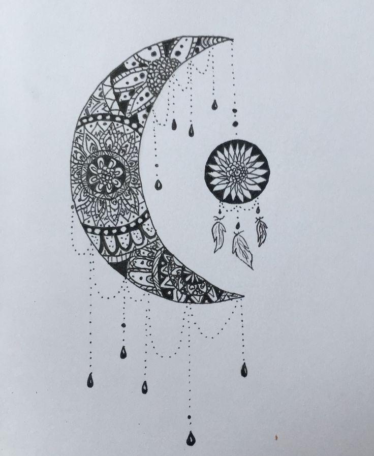 moon & dream catcher @katekallinn
