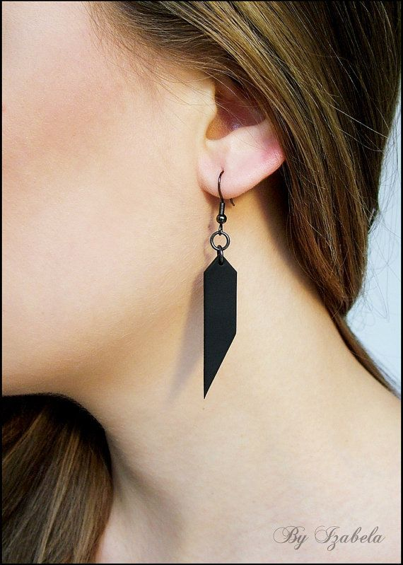 Hey, I found this really awesome Etsy listing at https://www.etsy.com/listing/175189482/matte-black-earrings-fimo-clay-earrings