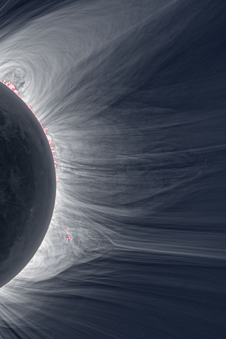 """zerostatereflex: """" Detailed View of a Solar Eclipse Corona """"Only in the fleeting darkness of a total solar eclipse is the light of the solar corona easily visible."""" """""""