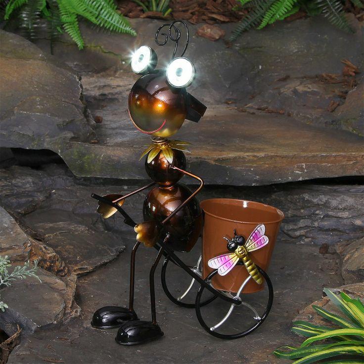 Love This Guy Decorative White Led Solar Ant Light Planter World Of Solar Solar