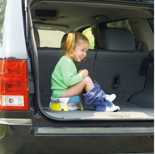 This portable potty is not only great for long car rides, but it doubles as a training seat.