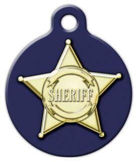 Sheriff Badge Dog ID Tag