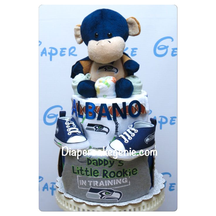 Welcoming baby Albano to this world! Go Hawks go! https://www.etsy.com/ca/shop/Diapercakesgenie