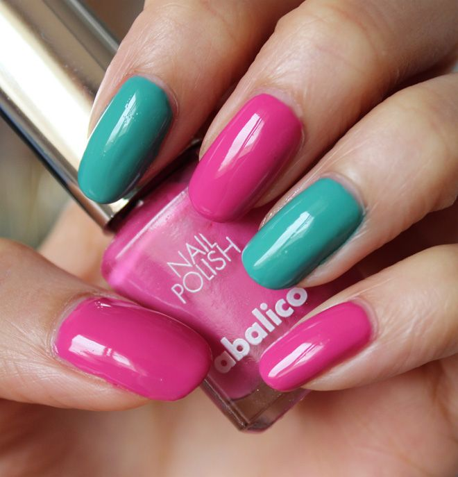 Abalico nail polish Candy Rosa & Candy Türkis http://www.talasia.de/2015/04/29/nails-albalico-candy-rosa-candy-trkis/