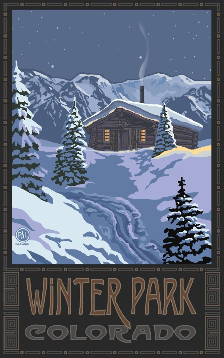 155 best colorado travel posters images on pinterest for Winter park colorado cabins