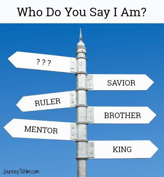 Who Do You Say I Am Post Graphic. #Jesus #describeJesus #loveHim #hope