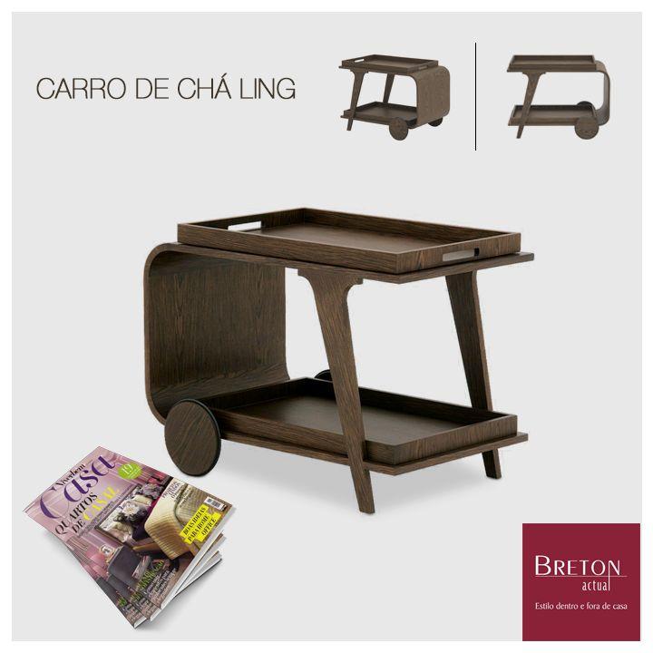 A funcionalidade e o design retrô do carrinho de chá Ling da Breton foram destaque na edição de agosto da revista Viver Bem Casa. Bela escolha! #Breton #BretonActual #Bretonnamídia #RevistaViverBemCasa