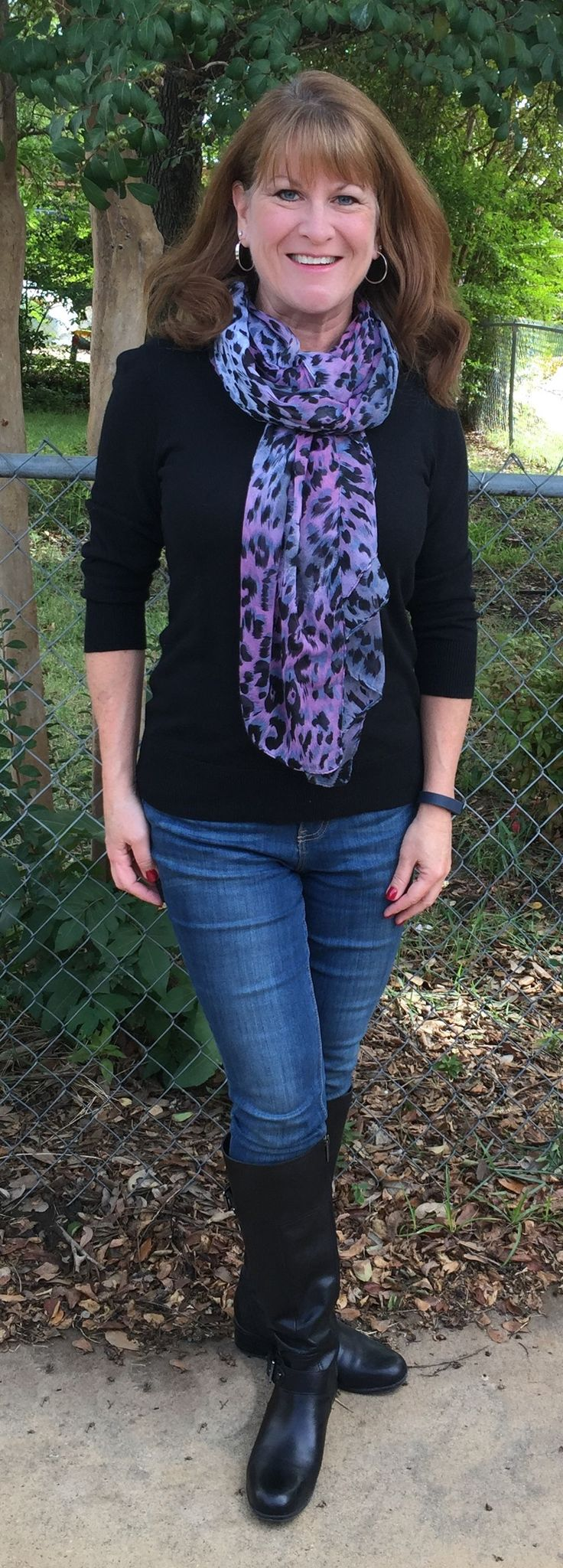 I love a scarf for adding a bit of color to an outfit.