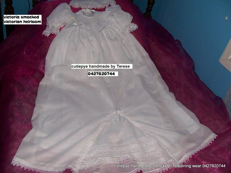 victorian smocked gown with hand emb 0427820744