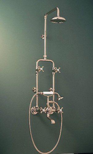 Edwardian Tiles - RU9621 Roulette Combi Diverter Exposed Shower Set Antique Brass