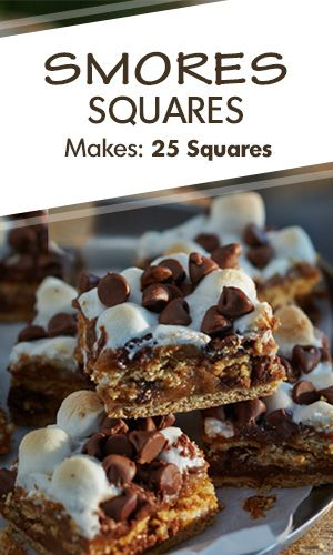#AnnaOlson's delicious S'mores Squares #recipe is a twist on a #campfire classic. Enjoy them chilled, or warmed over a fire.
