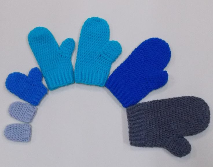 Mittens Newborn and 3-6 Month Crochet Tutorial