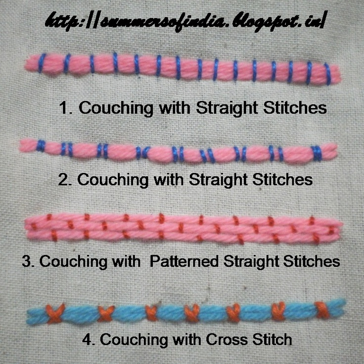 Best images about couching stitches on pinterest