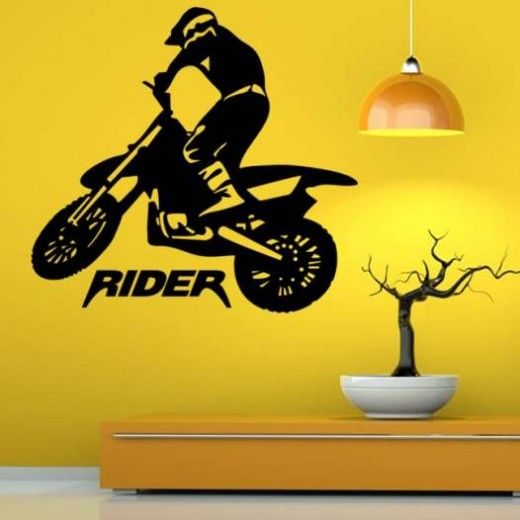 Hoopoe Decor Road Bike rider 2 Wall Stickers and Decals