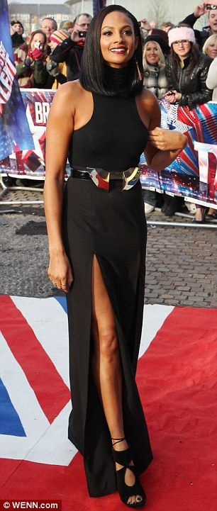 Alesha Dixon shows off her sleek, sharp bob this would be the bob length I would go for.