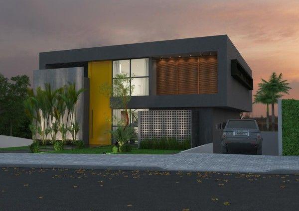 Fachada de casa moderna arquitetura pinterest for Fachadas de casas contemporaneas modernas