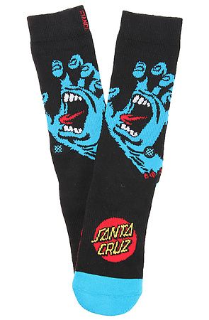The Stance Screaming Hand Sock in Black l/xl