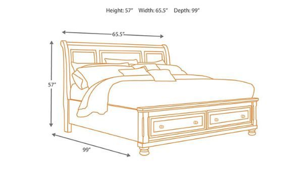 Queen Size Sleigh Bed Frame Only For Sale In Eleven Mile Az