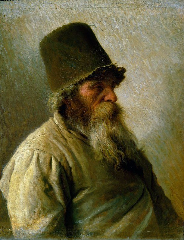 МЕЛЬНИК, 1873г. Иван Николаевич Крамской (1837-1887). Государственный Русский музей, Санкт-Петербург.