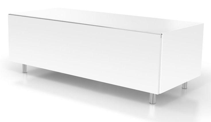 Just Racks JRL1110S White TV Stand