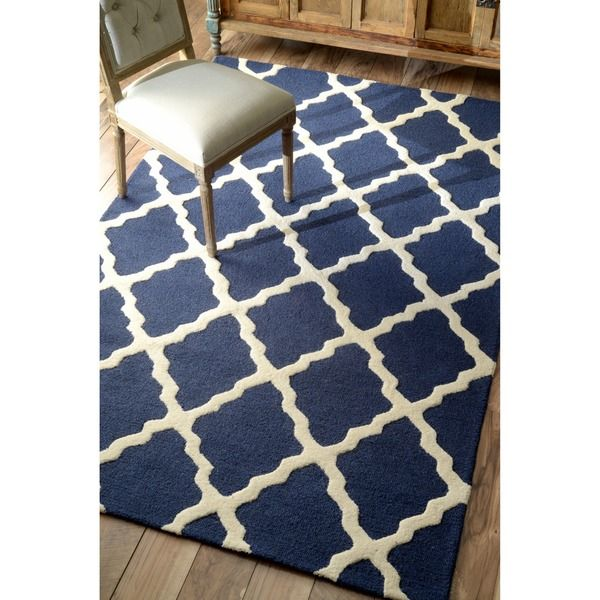 nuLOOM Hand-hooked Alexa Moroccan Trellis Wool Rug (5' x 8') - Overstock Shopping - Great Deals on Nuloom 5x8 - 6x9 Rugs