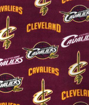 Cleveland Cavaliers NBA Fleece Fabric