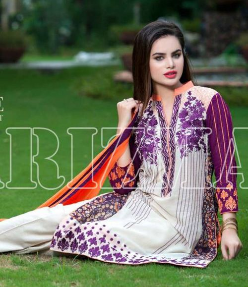 Charizma Range Vol-3 Luxury Lawn Embroidered Collection CR-619