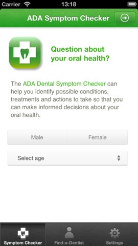 The American Dental Association has released an App: The Dental Symptom Checker.  Better than just Googling your dental problem.    www.DrCivils.com
