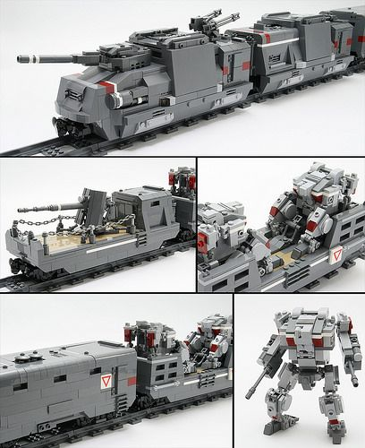 Armored Train by Legorobo:waka ! Another awesome MOC from the master of Mechs !