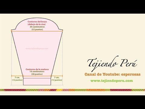 Dos agujas: mangas pegadas: tomando las medidas - YouTube