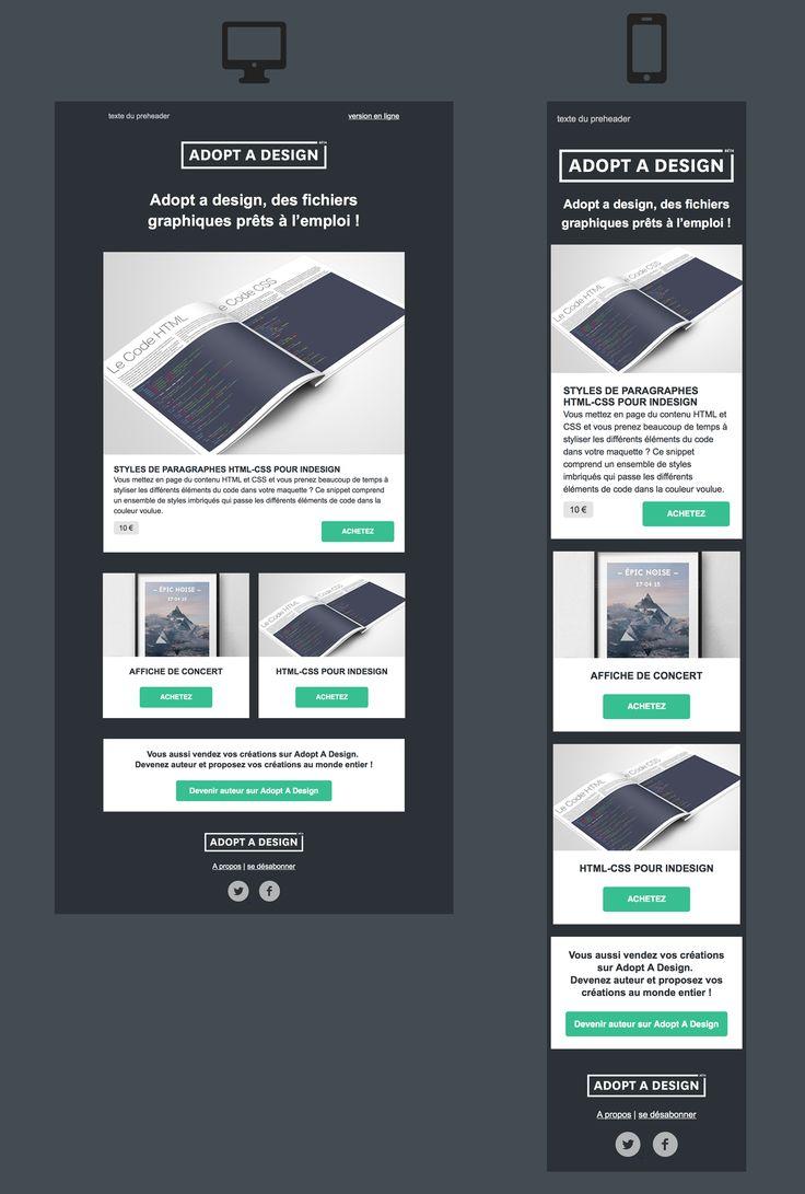 57 best Responsive Email Design [inspiration] images on Pinterest ...